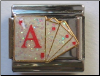 Ace of Hearts Glitter Cards PAS Casino