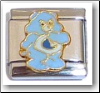 Cute Bear, blue Italian Charm