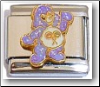 Cute Bear, purple glitter Italian Charm