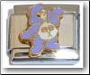 Cute Bear, purple  Italian Charm