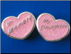 In Memory My Daughter   Two sided Sterling bead