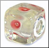 Misty Glass Cube Bead