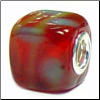 I'm melting Red Glass Cube Bead