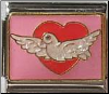 Dove of peace in heart -  pink