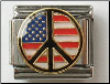 Peace sign in USA colors