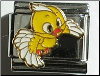 Chick in flight Yellow -  9 mm Italian charm